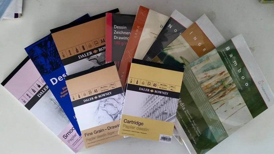 Papier für Bleistift, Farbstift und Kohle (Elena)