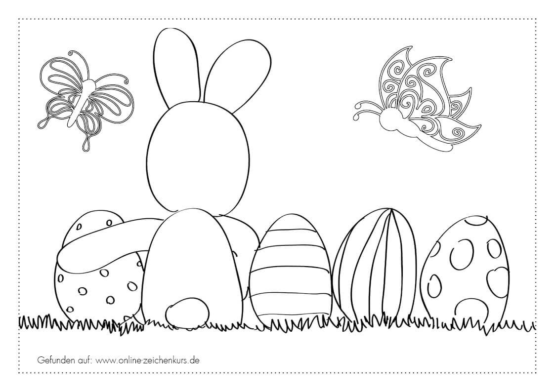Ostern Ausmalbilder für Kinder und Erwachene kostenlos herunter laden