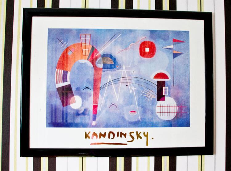 Eingerahmter Kandinsky-Druck