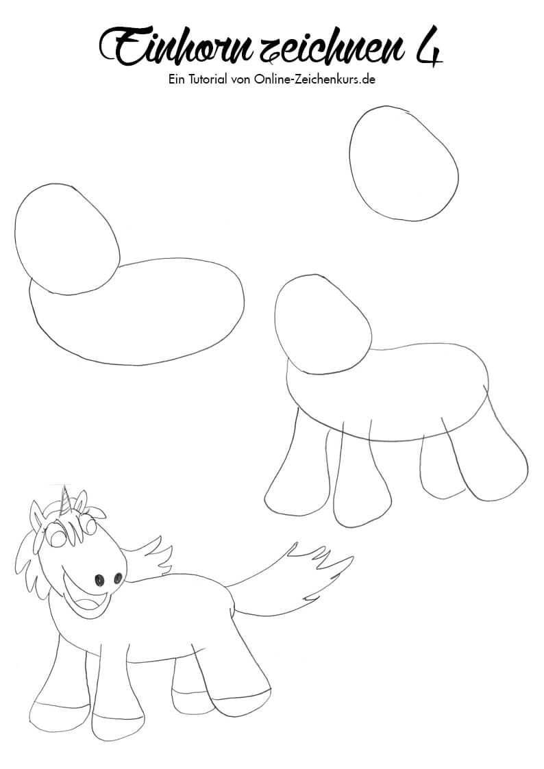 Einhorn zeichnen 4 - Zeichenanleitung