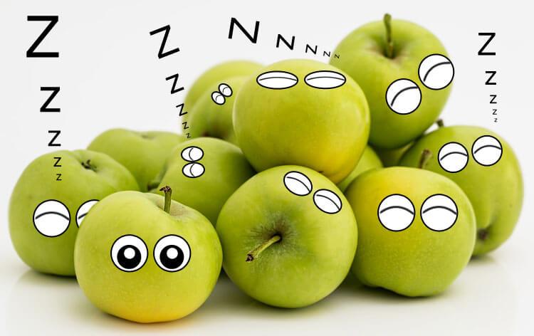 Foto: Äpfel pennen mit Photoshop Comicaugen