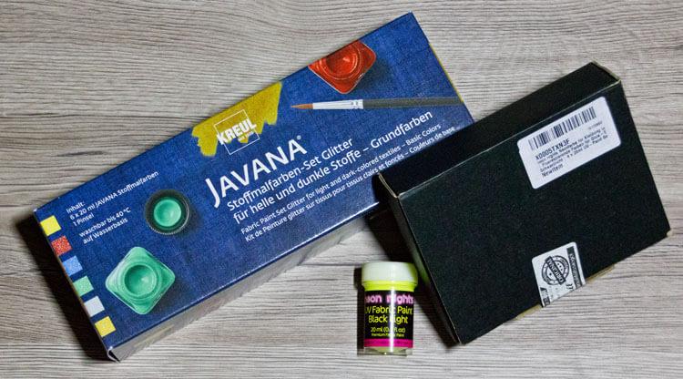 Javana Textilfarbe und Neon Nights Stoffmalfarbe