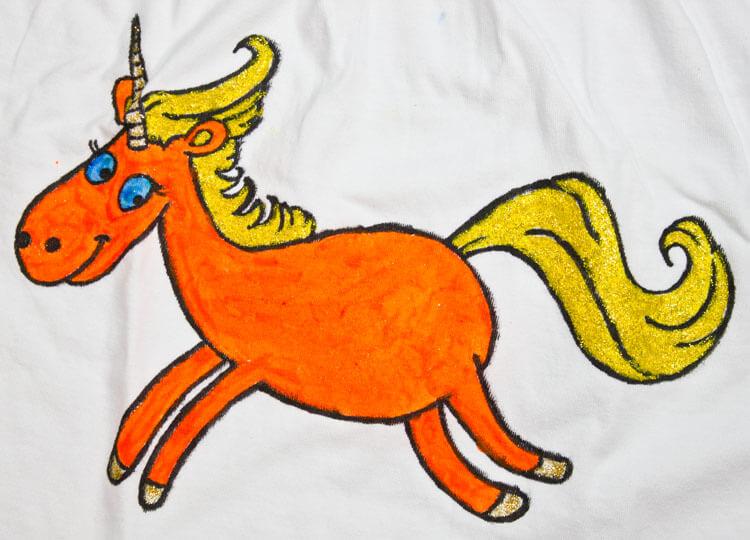 Mädchen-Shirt mit Einhorn - Detailansicht