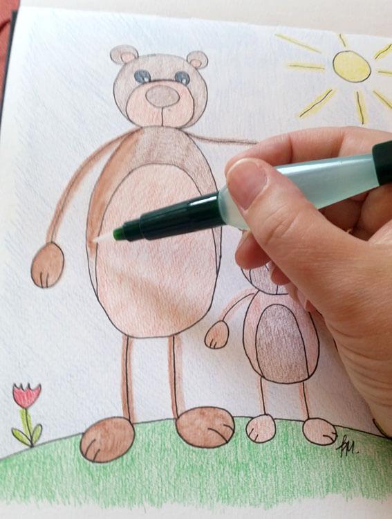 Beispielbild malen mit Wassertankpinsel