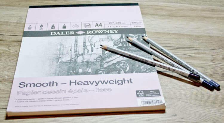 Verwendetes Künstlermaterial: Zeichenpapier & Buntstift