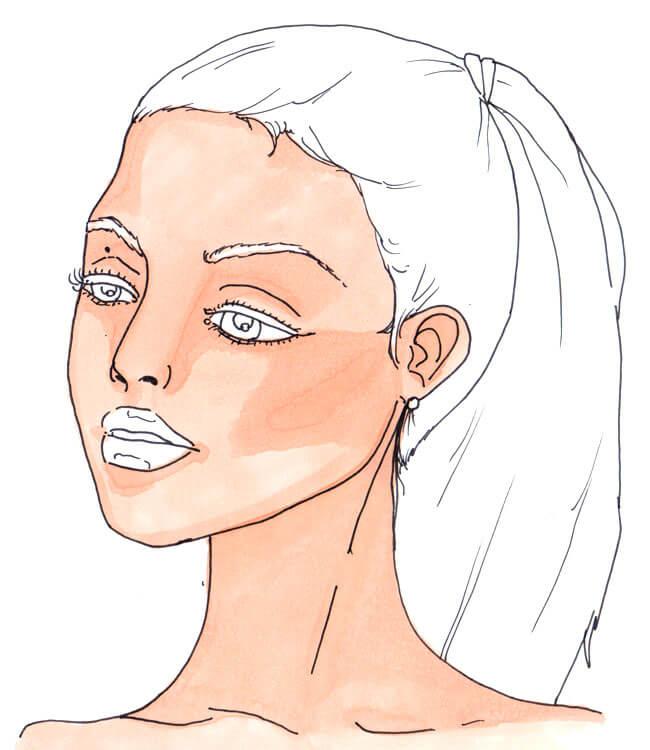 Frauenportrait 2 - Kolorierung mit Chameleon Color Tones 1