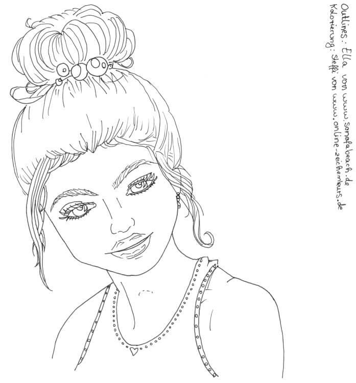 Kolorieren fremder Outlines: Frauenportrait von Sonofabeach