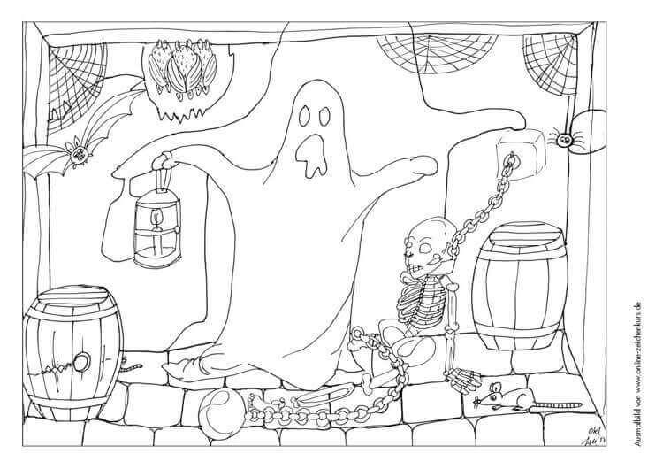 Halloween Geist im Verlies