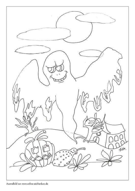 Halloween gruseliger Geist