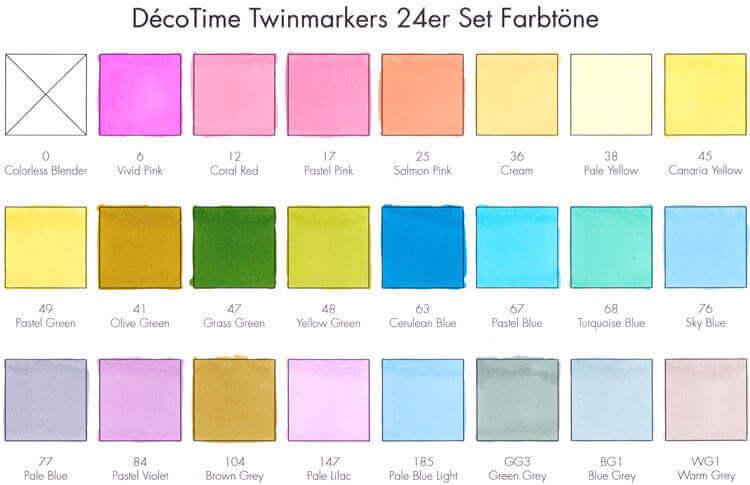 24 Farbtöne Test