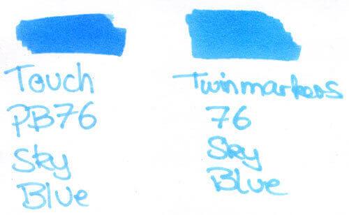 Twinmarker vs. Touchmarker Farbvergleich