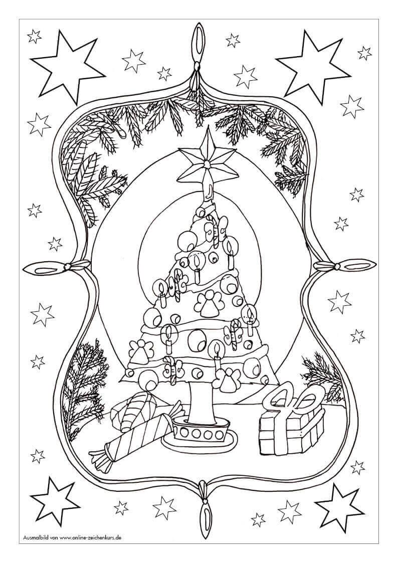 Ausmalbild: Weihnachtsbaum