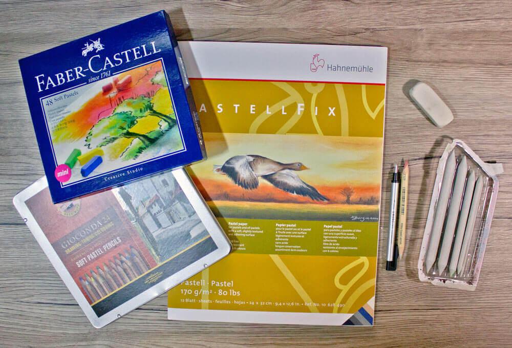 Grundlagen der Pastellmalerei - Materialien