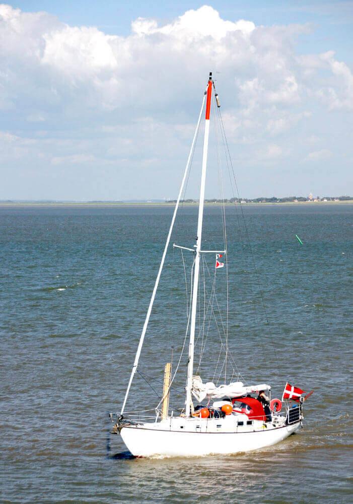Fotovorlage zum Abzeichnen: Segelboot 2