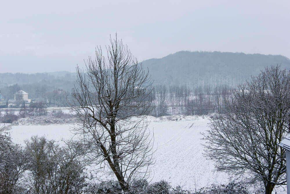 Fotovorlage zum Abzeichnen Winterlandschaft