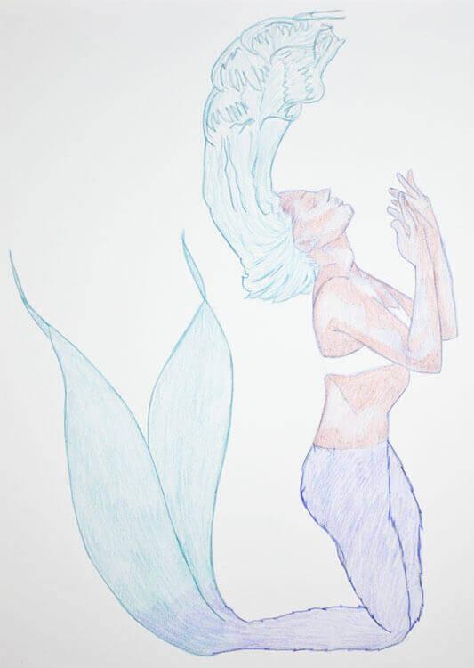 Aquarellbuntstiftkolorierung 2