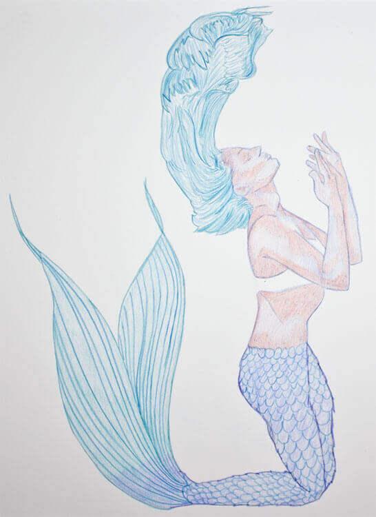 Aquarellbuntstiftkolorierung 3
