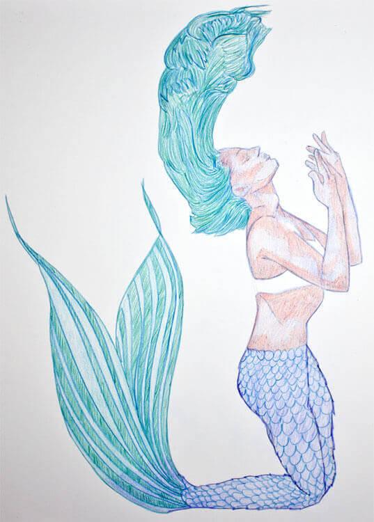 Aquarellbuntstiftkolorierung 4