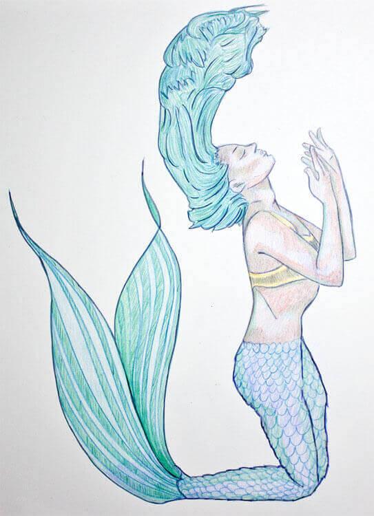 Aquarellbuntstiftkolorierung 5