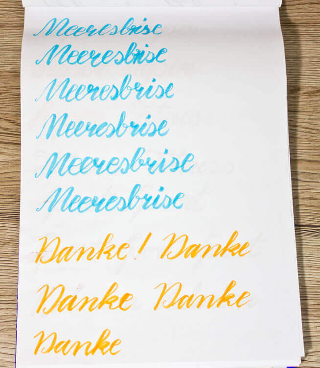 Brush Lettering Übungsbeispiele 1