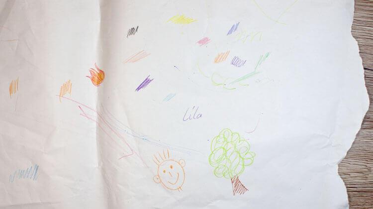 Zeichnen wie ein Kind - Gekritzel