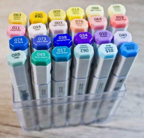 Spectra ad Marker in durchsichtiger Box