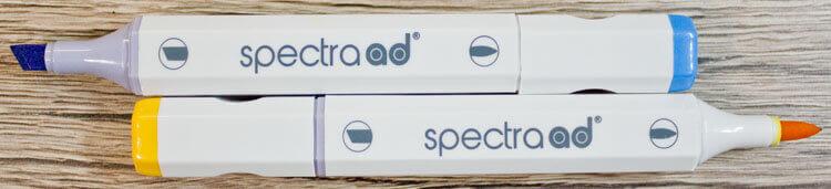 Spectra ad Marker - Pinselspitze und breite Spitze