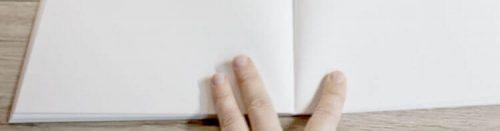 Crescent Rendr Markerpapier Aufgeklappte Seiten vom Softcover