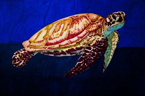 Meeresschildkröte malen mit Brushmarker 7 Detailansicht