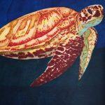 Meeresschildkröte mit Brushmarkern malen