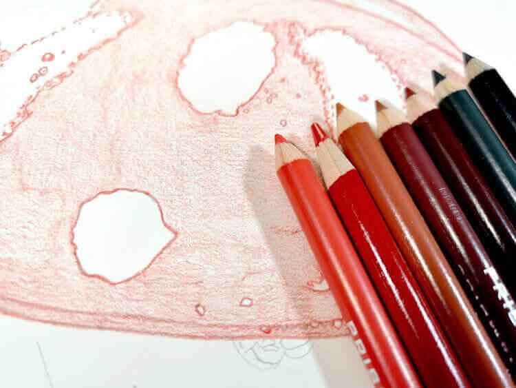 Marienkäfer Malen Mit Prismacolor Buntstiften Schritt Für