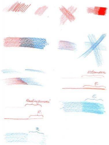 Prismacolor Malverhalten und Techniken Beispiele