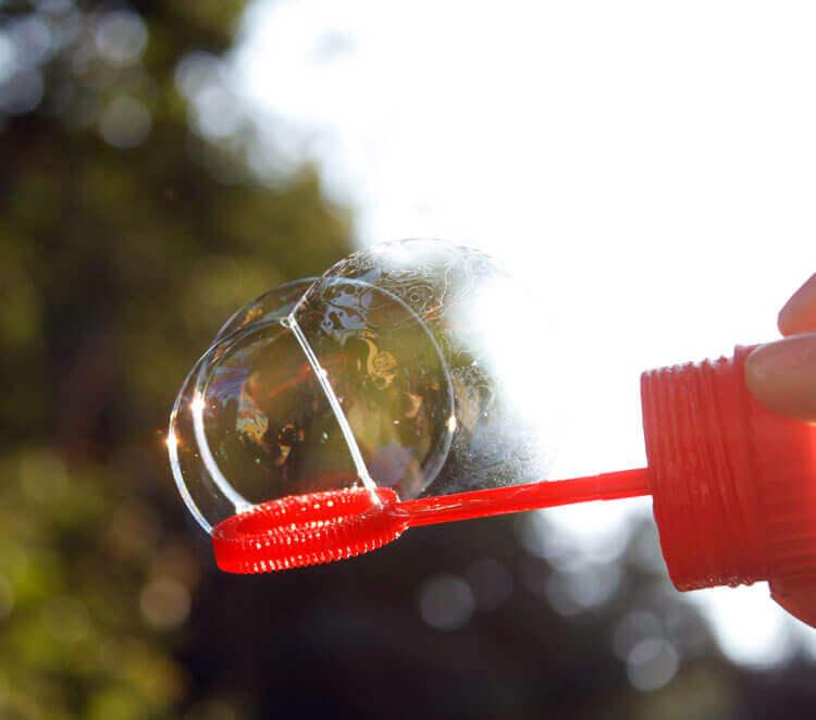 Fotovorlage zum Abzeichnen: Seifenblase