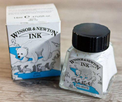 Winsor Newton weiße Tusche (white Ink)