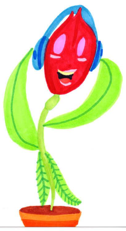 Blumenmädchen singt - Schattierung mit Markern
