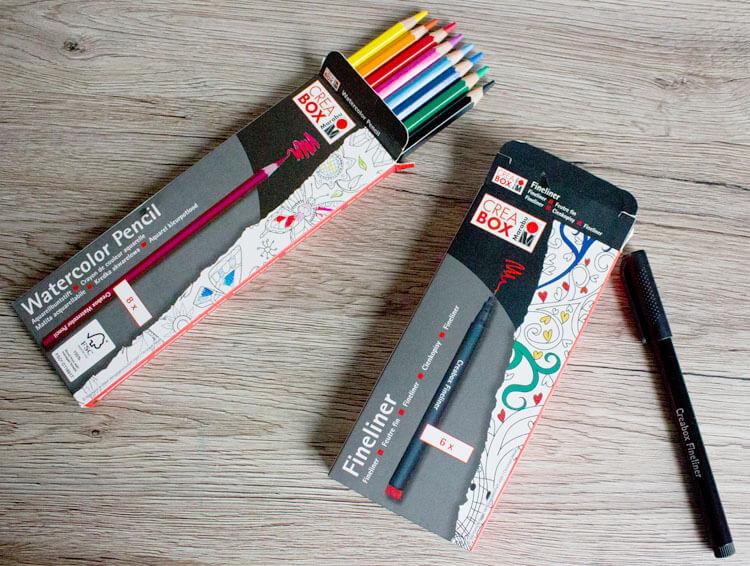 Marabu Crea Box Watercolor Pencils und Fineliner