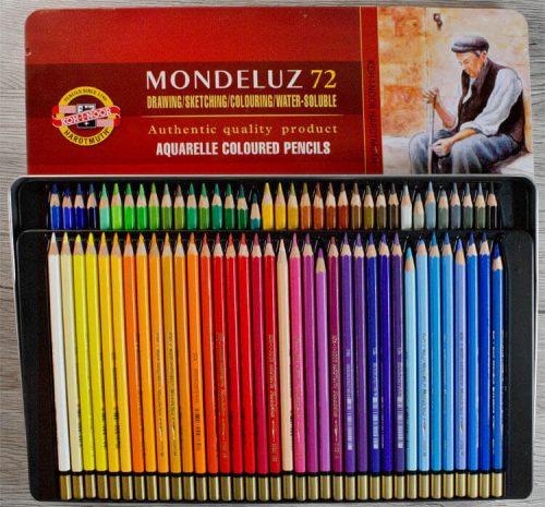 Koh-I-Noor Hardtmuth Mondeluz 72 Aquarellbuntstifte