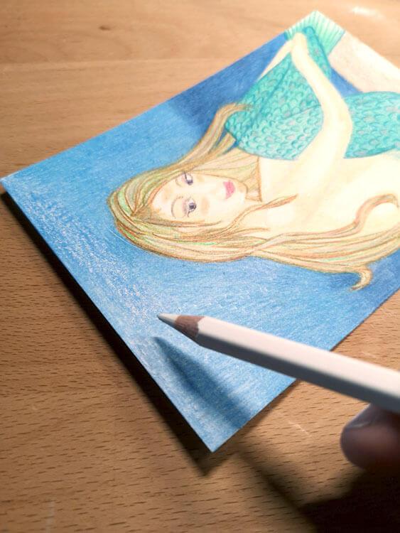 Hintergrund mit Buntstift kolorieren 2