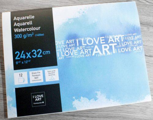 I LOVE ART Aquarellepapier - Feinkorn 300 g/m²
