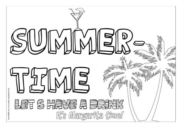 Sommer Ausmalbild: Für Ferien, Urlaub und Meer 5