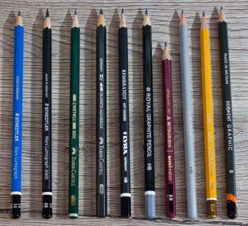 Bleistifte im Vergleich: Alle Stifte