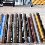 10 Bleistifte im Vergleich
