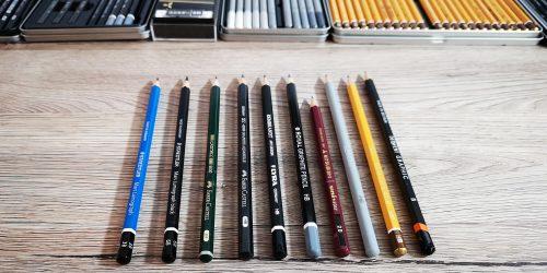 Bleistifte im Vergleich