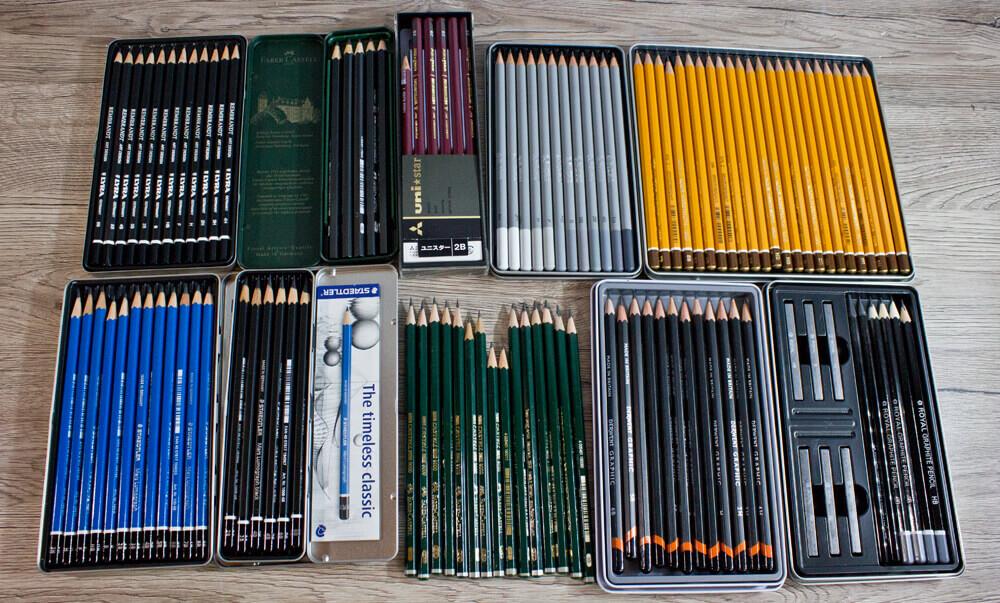Alle Bleistifte auf einen Blick