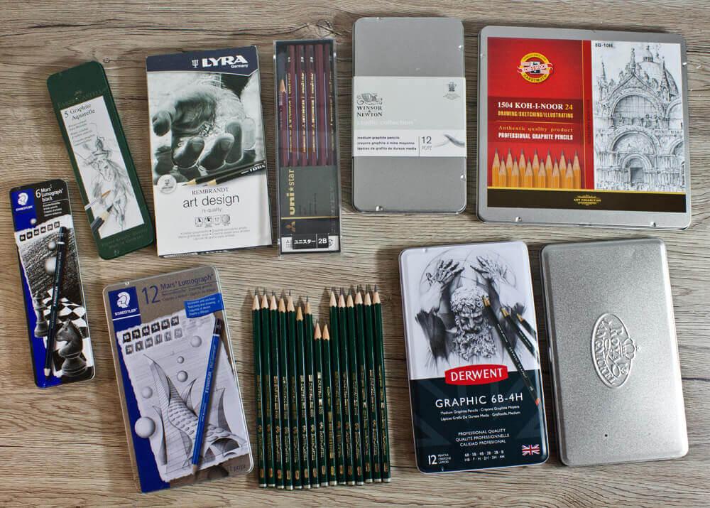 Bleistifte im Vergleich: Sets und Verpackungen