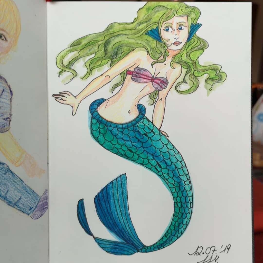 Malathon Tag 12 - Meerjungfrau