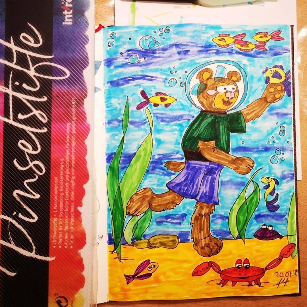 Malathon Tag 20 - Teddy Unterwasser