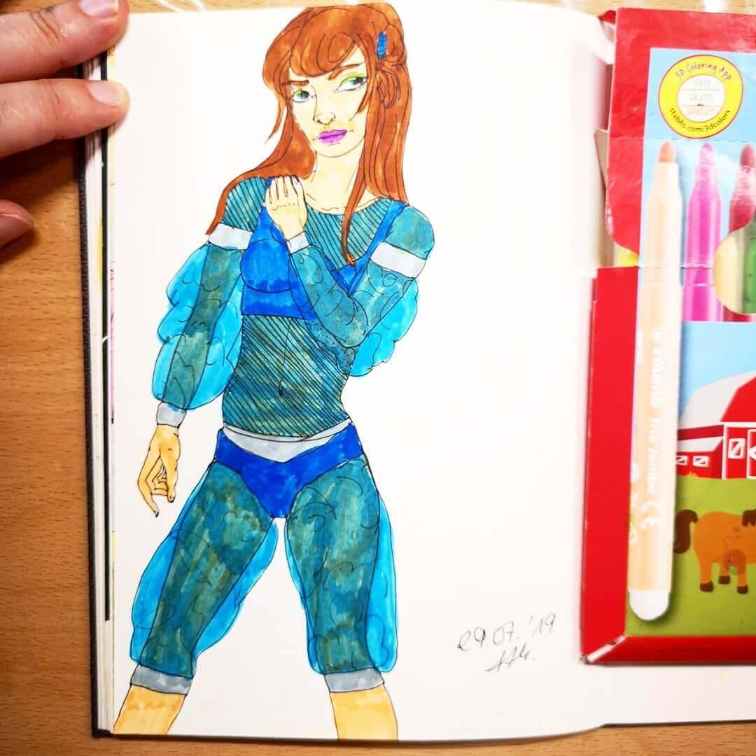 Tag 29 - Zeichne ein Outfit