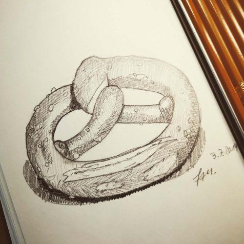 Bleistiftzeichnung mit Koh-I-Noor Hardtmuth Graphite Bleistift