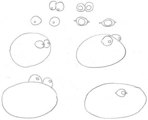 Verschiedene Möglichkeiten um Augen zu zeichnen
